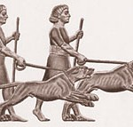 Babylonian hunting dogs