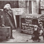 The Brown Shoe Co hired midget actors to portray Buster Brown and tour with his dog, Tige. Photo: Brown  Shoe Co