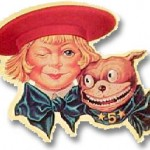 Buster Brown and Tige transfer decal. Usually placed on the front door glass, or mirror in a shoe store.