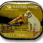 Nipper is now selling gramophone needles with his image on the tin.