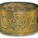 Heraldic broad dog collar from the collection at the Dog Collar Museum, Leeds Castle.