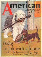The American Magazine, cover illustration Diana Thorne.