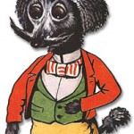 The Society Mascot. Early anthropomorphic Wain poodle.