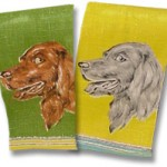 Handsome setter dish towels.