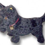 Steiff Scottish Terrier. Scotties are one of the most collected dog breeds.