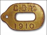 antique dog registration tag