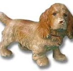 Hubley Cast Iron Cocker Spaniel Dog Paperweight.