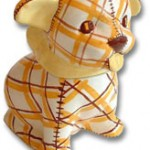 Brayton Laguna Plaid Dog Cookie Jar