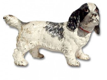 Hubley Cast Iron Spaniel dog doorstop