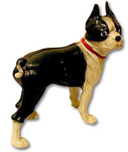 10-inch Hubley Boston Terrier Door Stop.