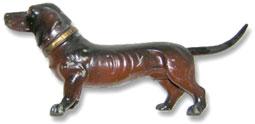 Antique figural Dachshund dog cigarette lighter, made in Austria.
