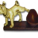 dog tobacciana pipe rest