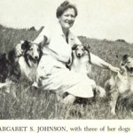 Margaret S Johnson with three of her Shetland Sheepdogs.