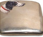 English Setter or Munsterlander cigarette case
