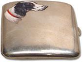 English Setter or Munsterlander cigarette case